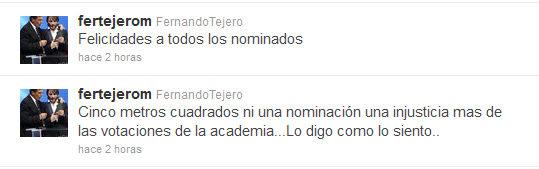 Fernando Tejero en twitter