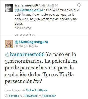 Santiago Segura en twitter