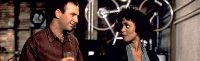 Whitney Houston y Kevin Costner en 'El guardaespaldas'