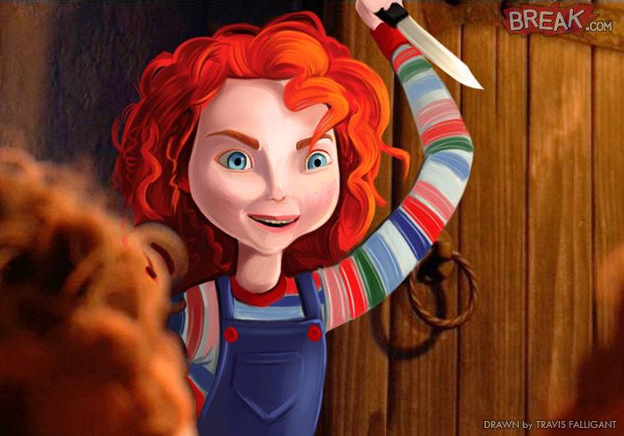 Mérida como Chucky
