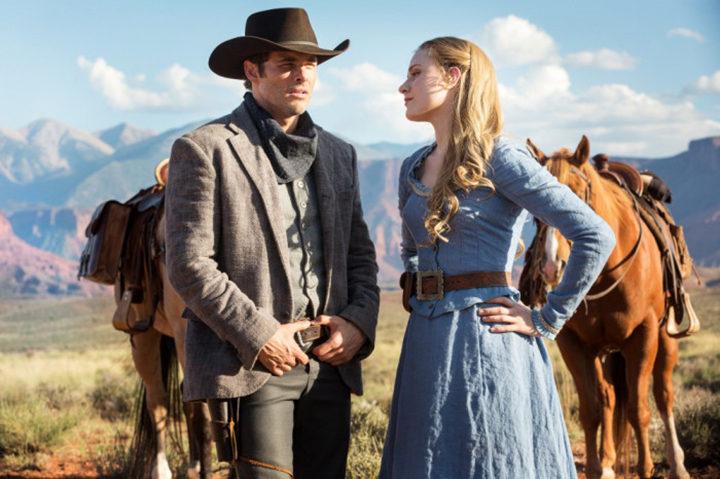 James Marsden y Evan Rachel Wood en 'Westworld'