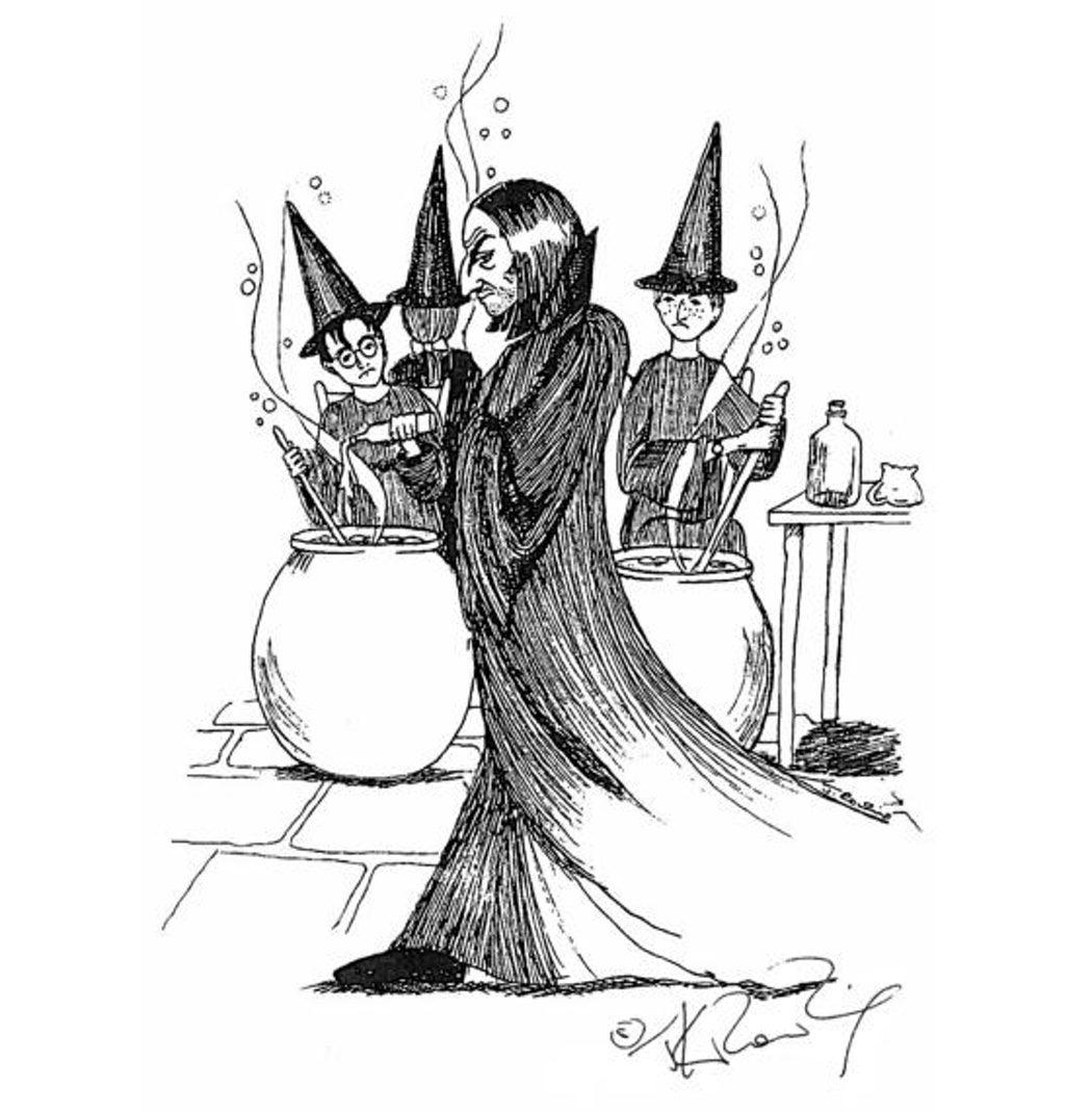 Snape en su clase de Pociones