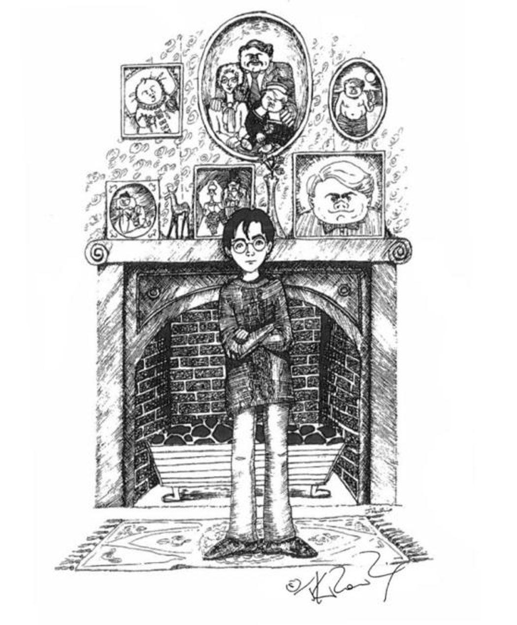 Harry Potter en el salón de los Dursley