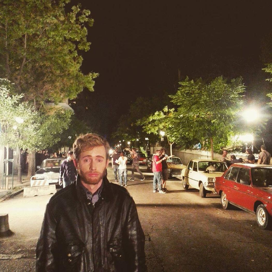 Pablo Rivero grabando una secuencia nocturna en plató