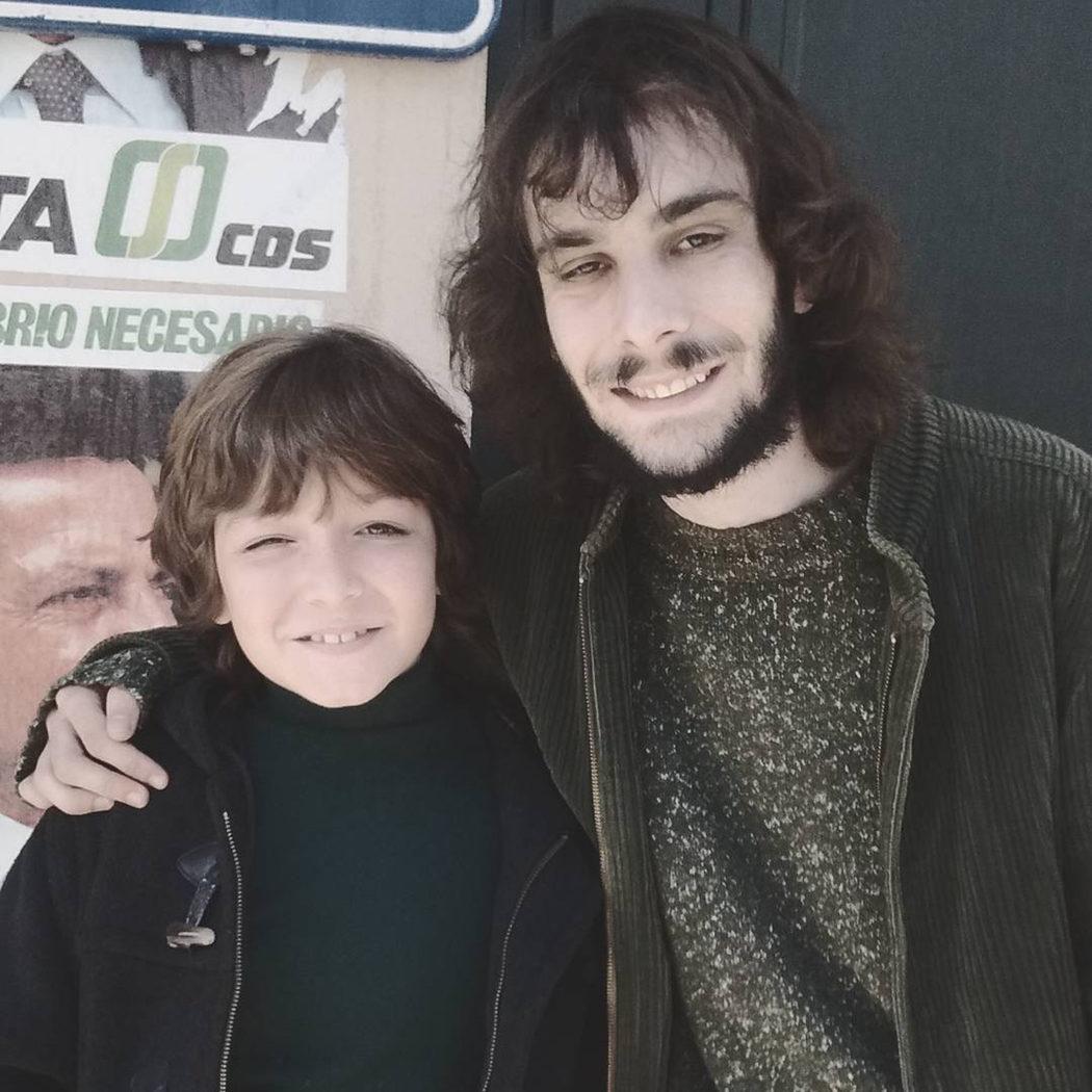 Javier Lorenzo y Manuel Dios en el rodaje de la serie