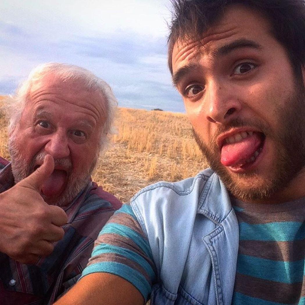 Juan Echanove y Ricardo Gómez en una localización exterior