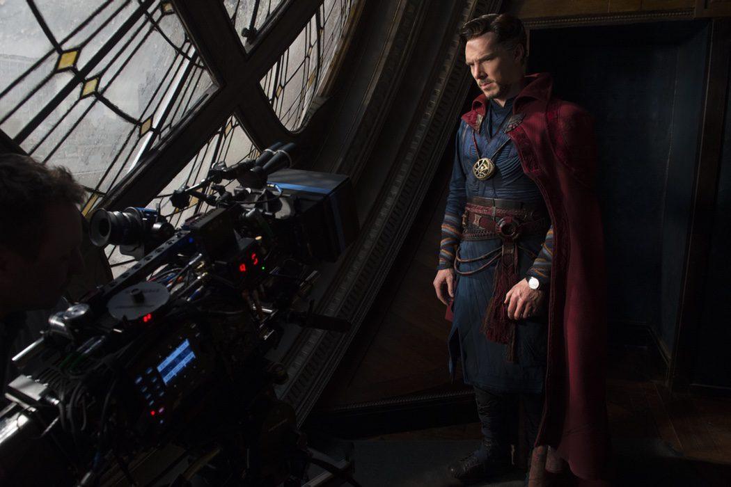 Benedict Cumberbatch en el rodaje