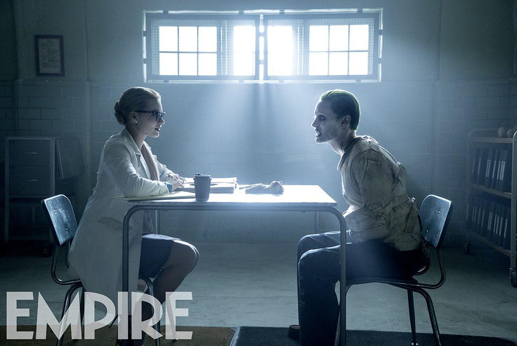 Jared Leto como el Joker y Margot Robbie como la Dra. Harleen F. Quinzel