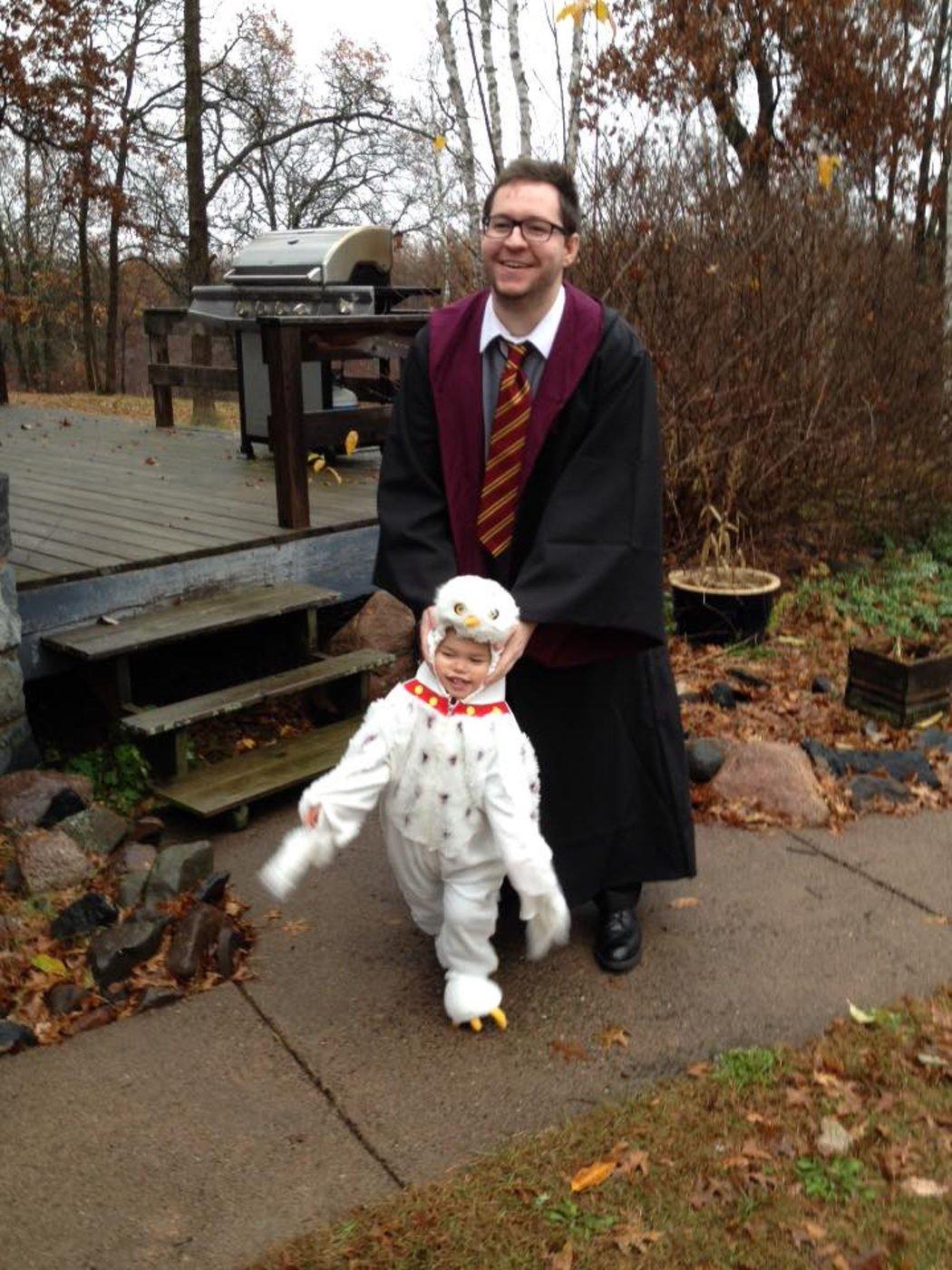 Disfraz Harry Potter y Hedwig