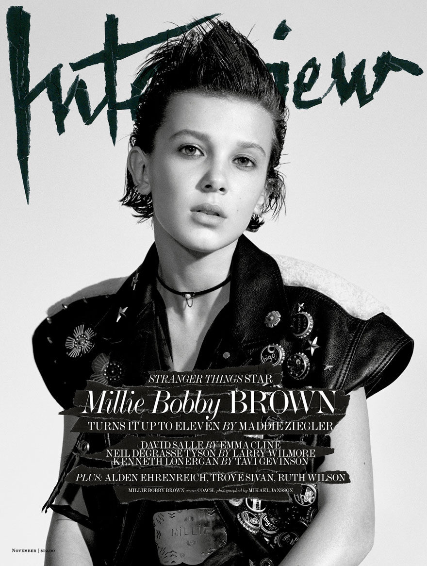 Portada de 'Interview Magazine' con Millie Bobby Brown