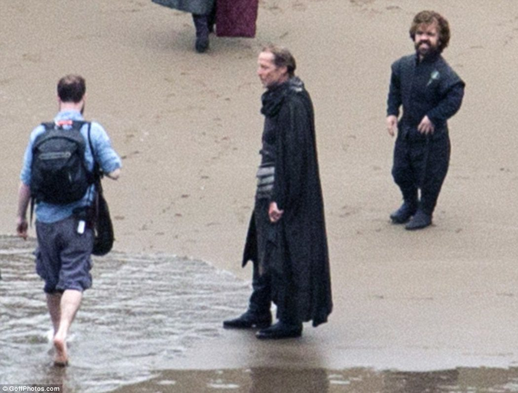 Jorah Mormont en el rodaje
