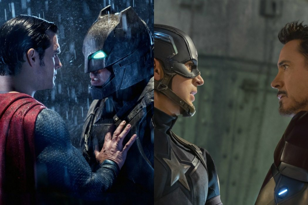 'Batman v Superman' vs. 'Capitán América: Civil War' (2016)