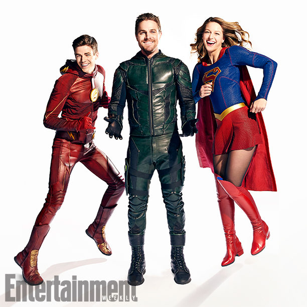 Gran Justin, Stephen Amell y Melissa Benoist para Entertainment Weekly