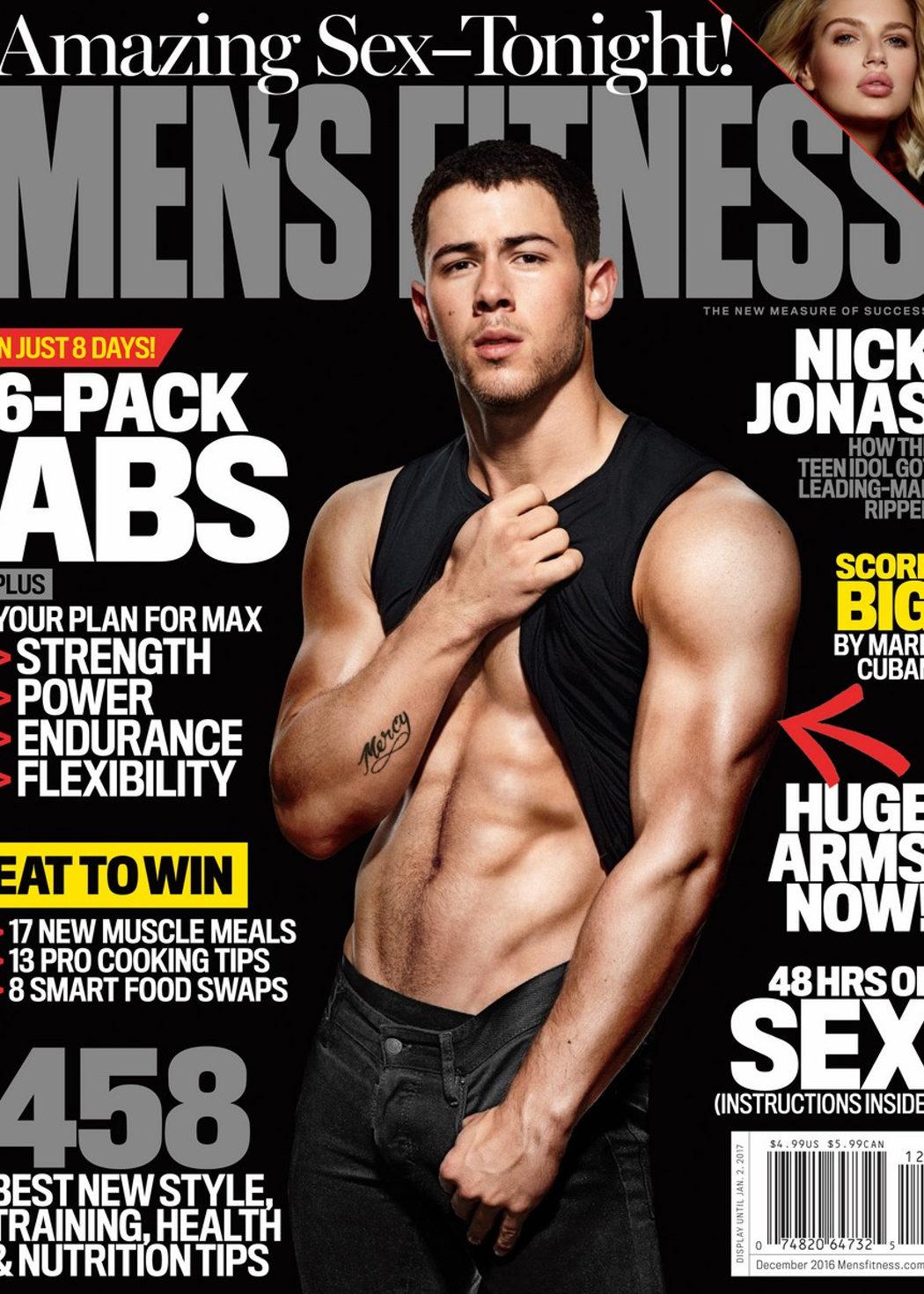 Portada de Nick Jonas para Men's Fitness