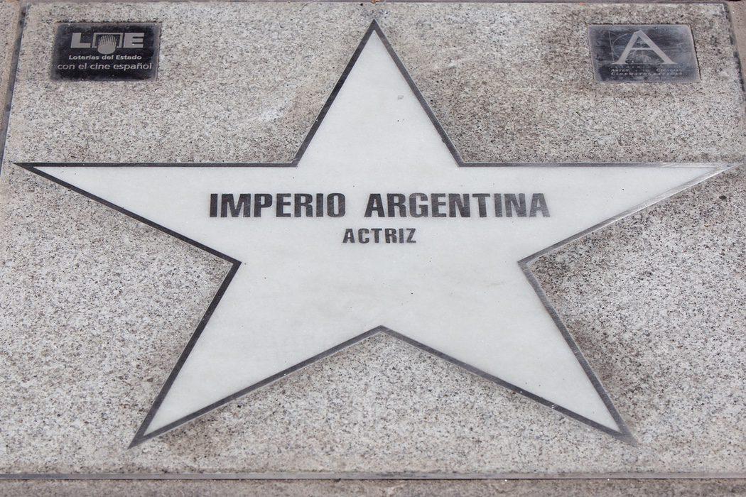 Estrella en el paseo de la fama de Madrid
