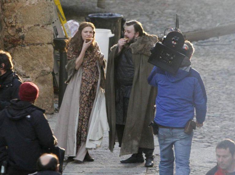 Sam y Gilly en el rodaje de 'Juego de Tronos'