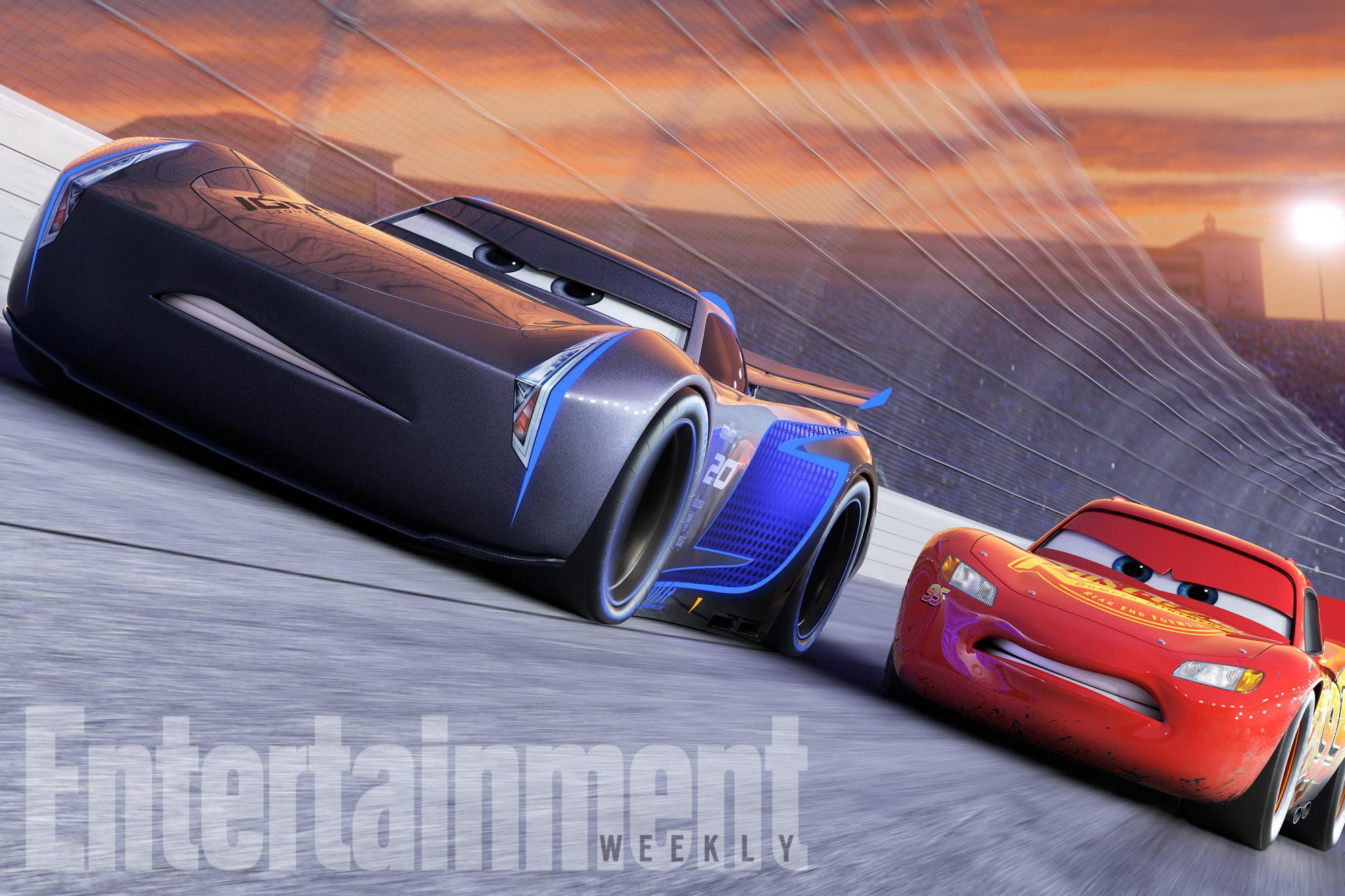 Rayo McQueen y Jackson Storm
