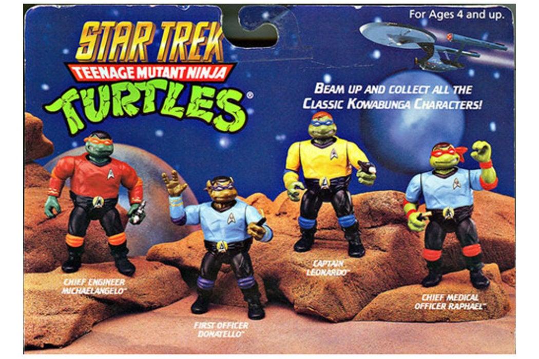 Las tortugas ninja disfrazadas de Star Trek