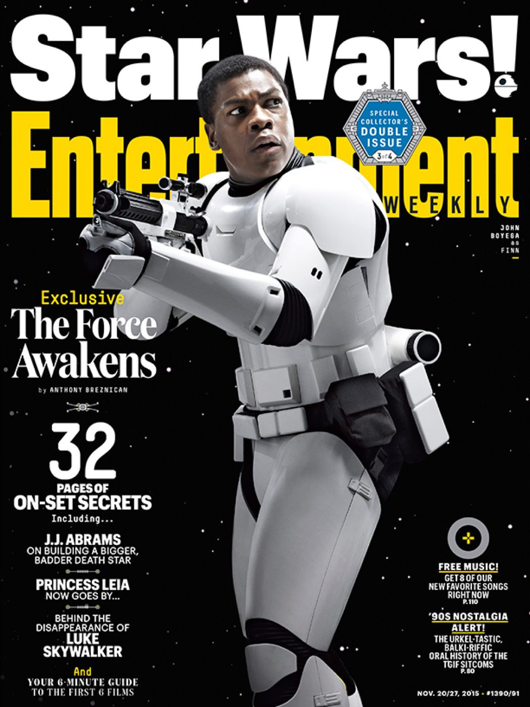 Finn en Entertainment Weekly