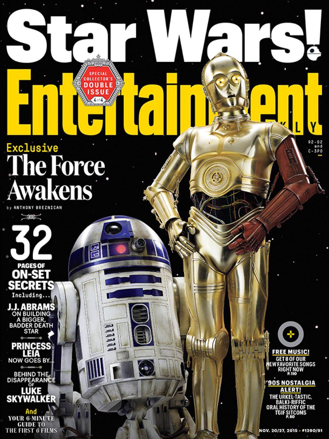 R2-D2 y C-3PO en Entertainment Weekly