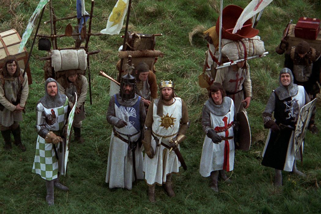 Los Monty Python en 'Los caballeros de la mesa cuadrada y sus locos seguidores'