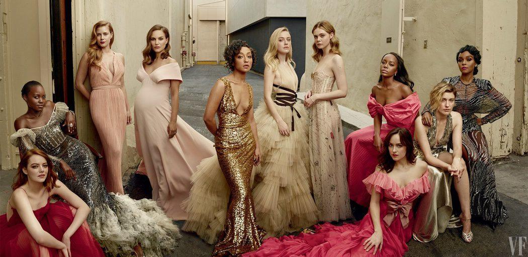 Las 11 actrices posan juntas