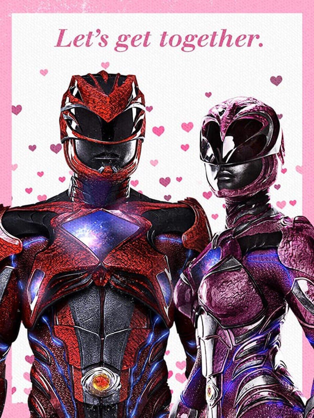 Ranger rosa y rojo enamorados