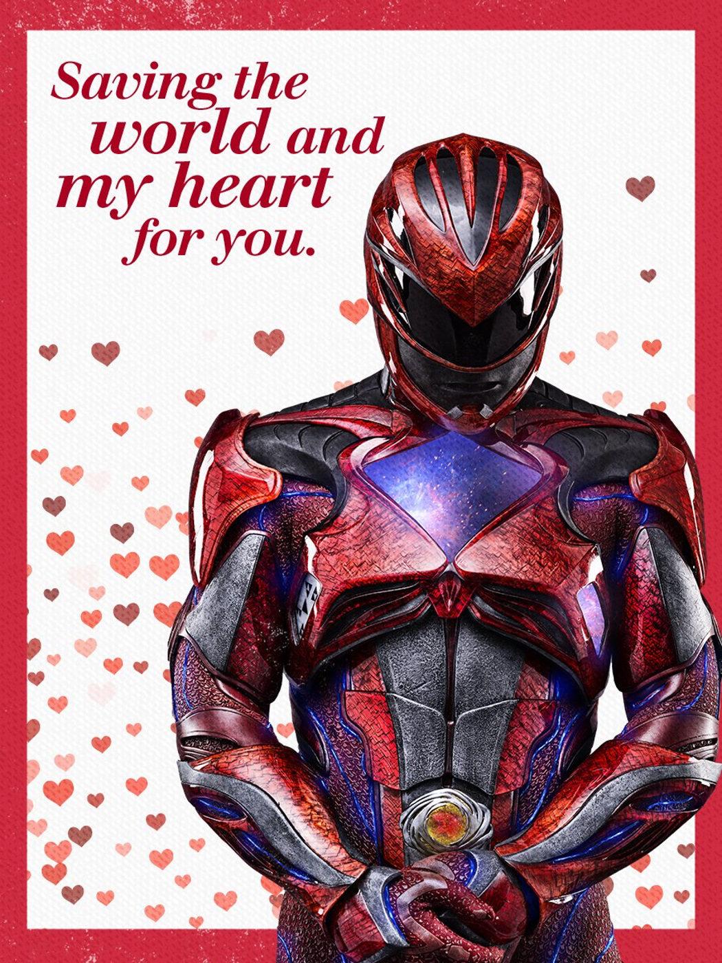 Ranger rojo te ofrece su corazón
