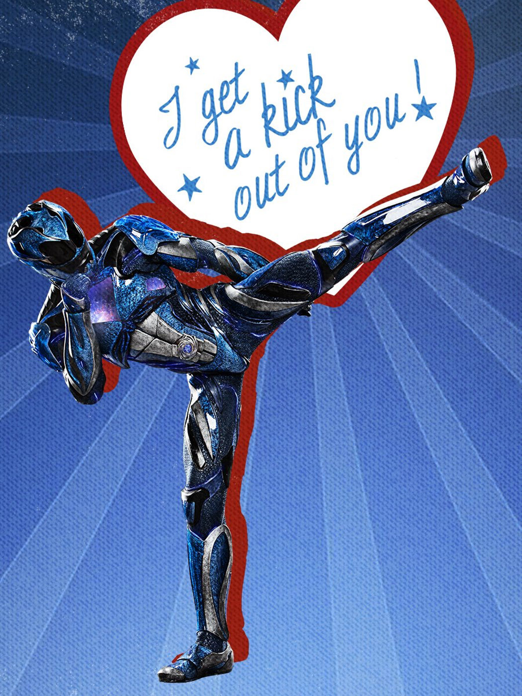 Golpea al amor como Ranger azul