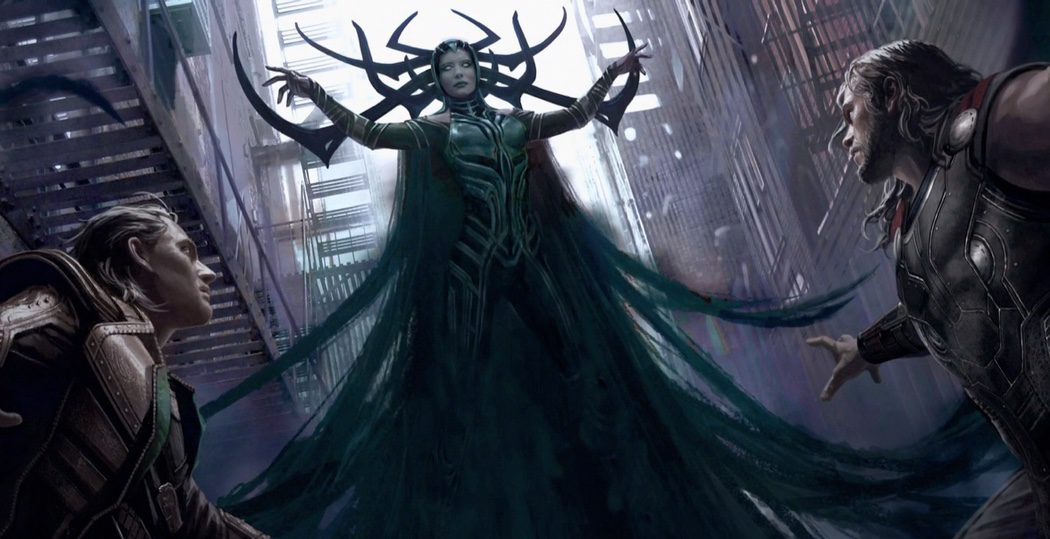 Cate Blanchett caracterizada como Hela en 'Thor: Ragnarok'