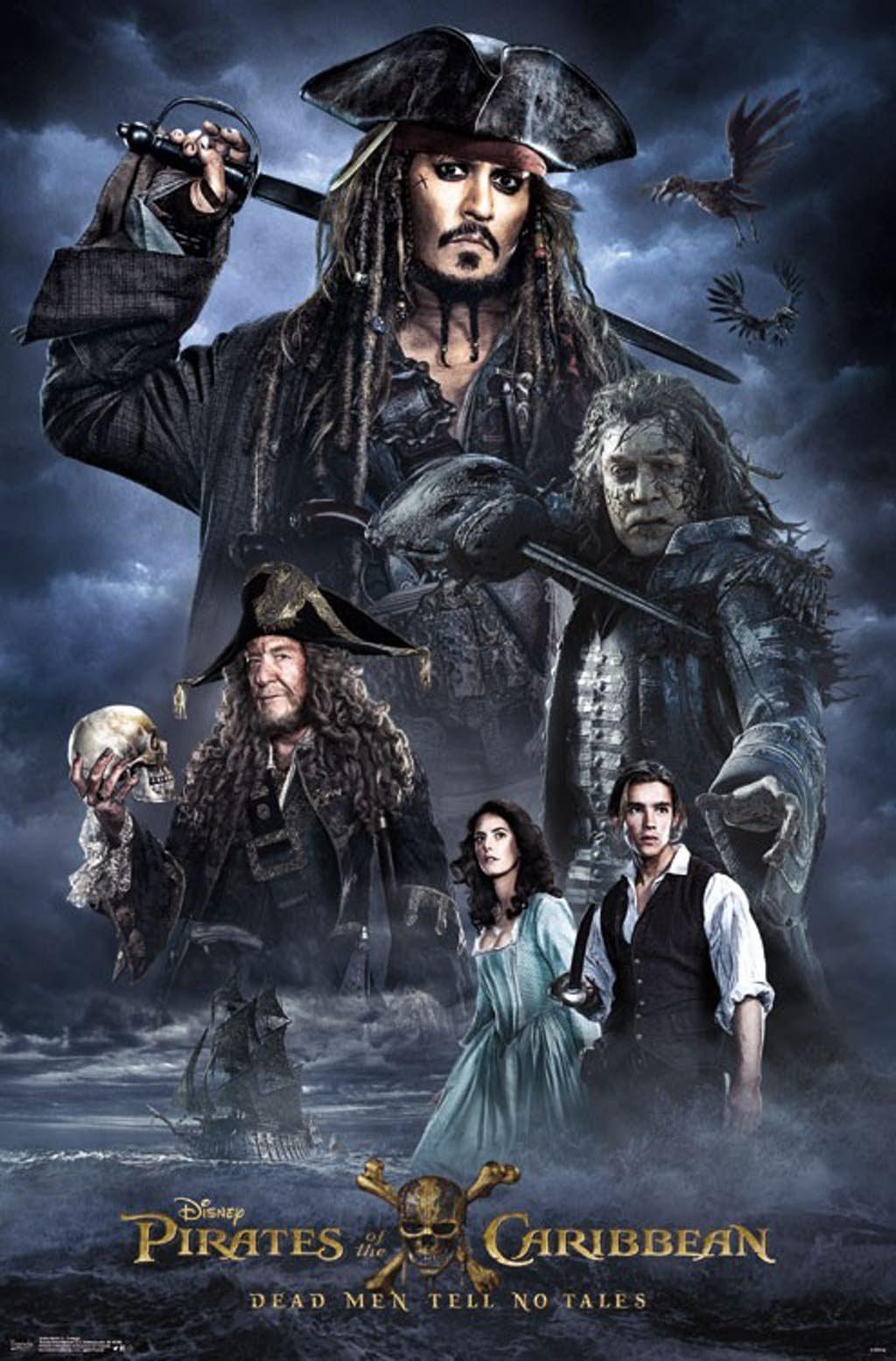 Jack Sparrow, Javier Bardem, Hector Barbossa, Carina Smith y Henry