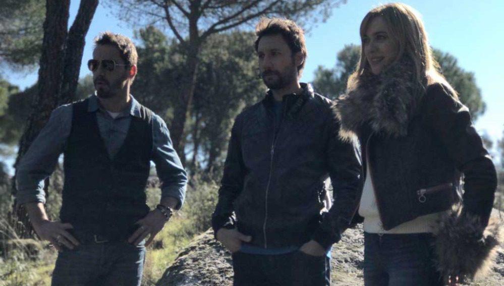 Los profesores Amelia, Fermín y Martín
