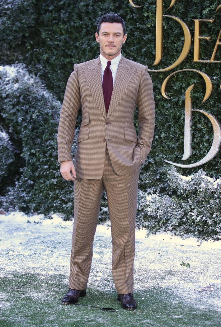 Luke Evans en la presentación 'La Bella y la Bestia' en Londres
