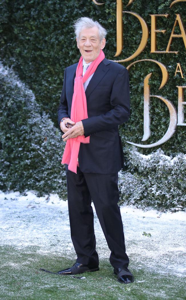Iam McKellen en la presentación 'La Bella y la Bestia' en Londres