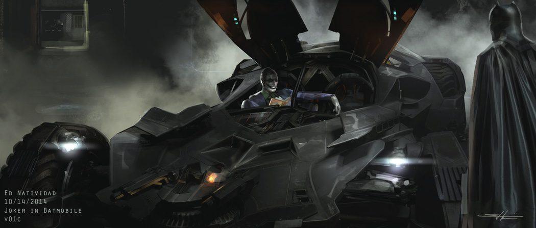 El Joker en el Batmobile  y Batman