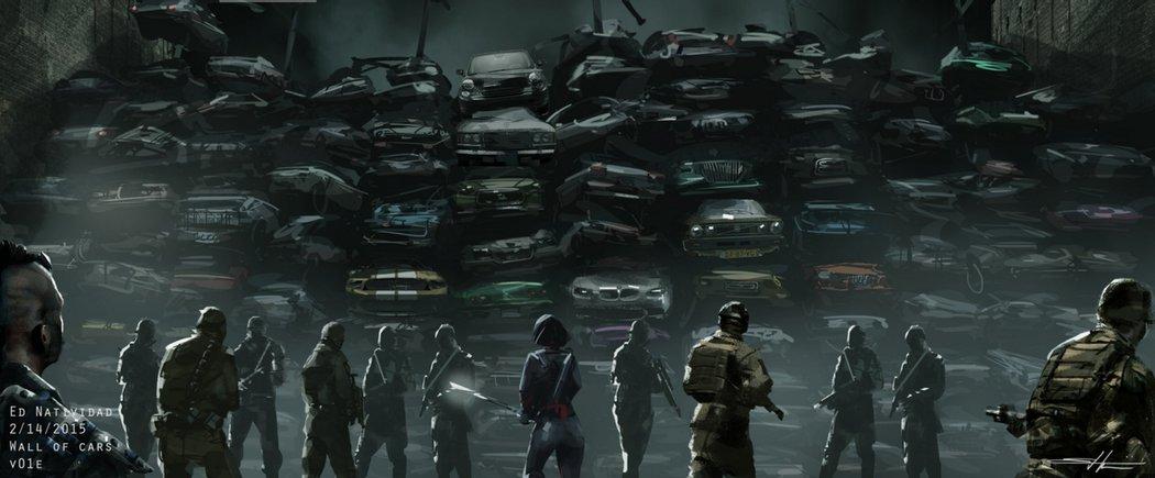 Muro de coches