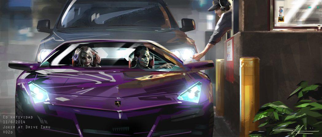 Harley Quinn y el Joker en el McAuto