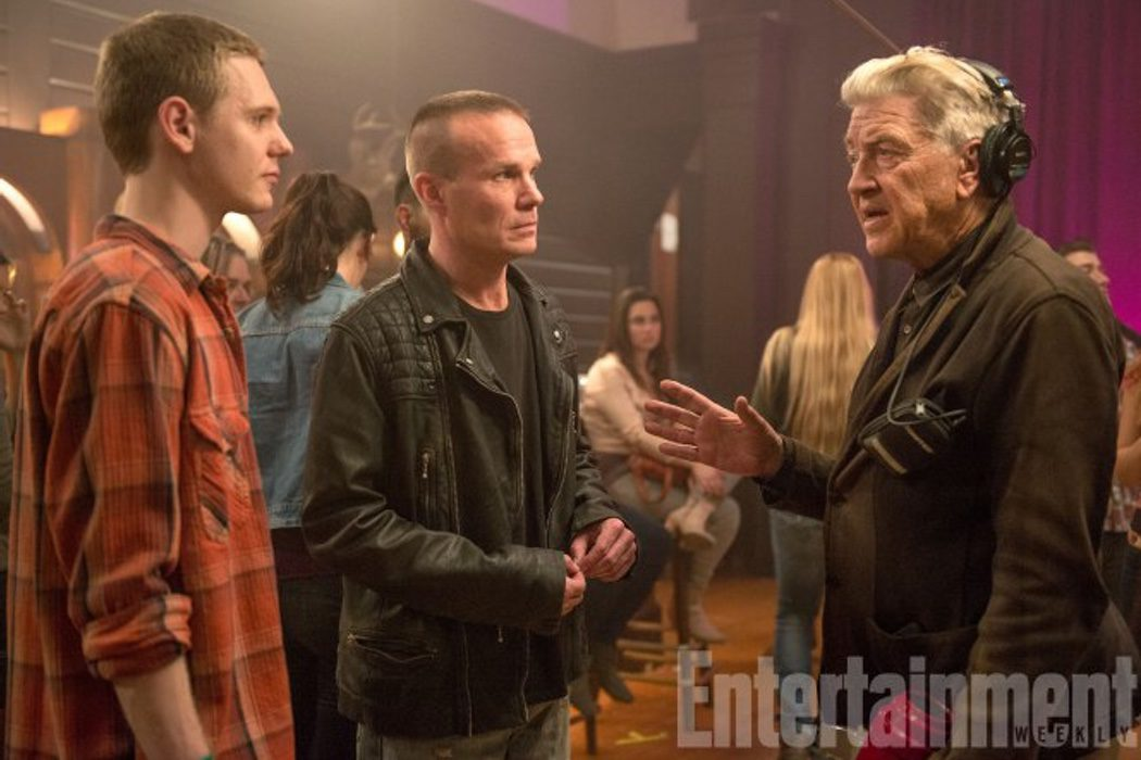 Jake Wardle y James Marshall con David Lynch