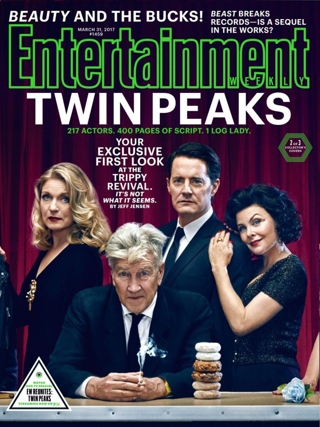 Sheryl Lee, Kyle MacLachlan, Sherilyn Fenn y David Lynch