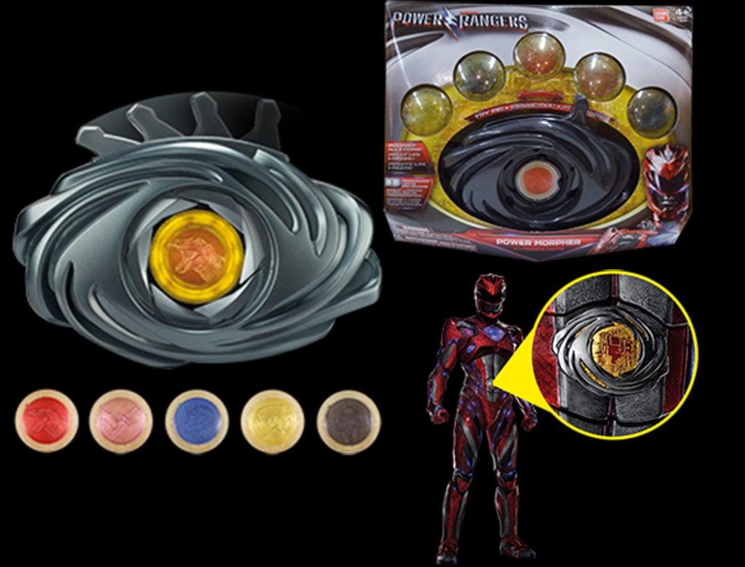 Los medallones de los Power Rangers con efectos exclusivos