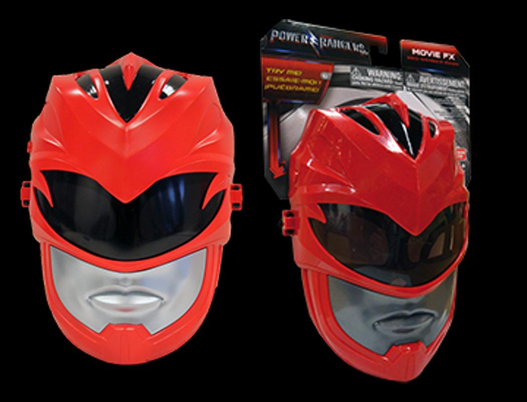 Máscara a tamaño real del Ranger Rojo con sonidos