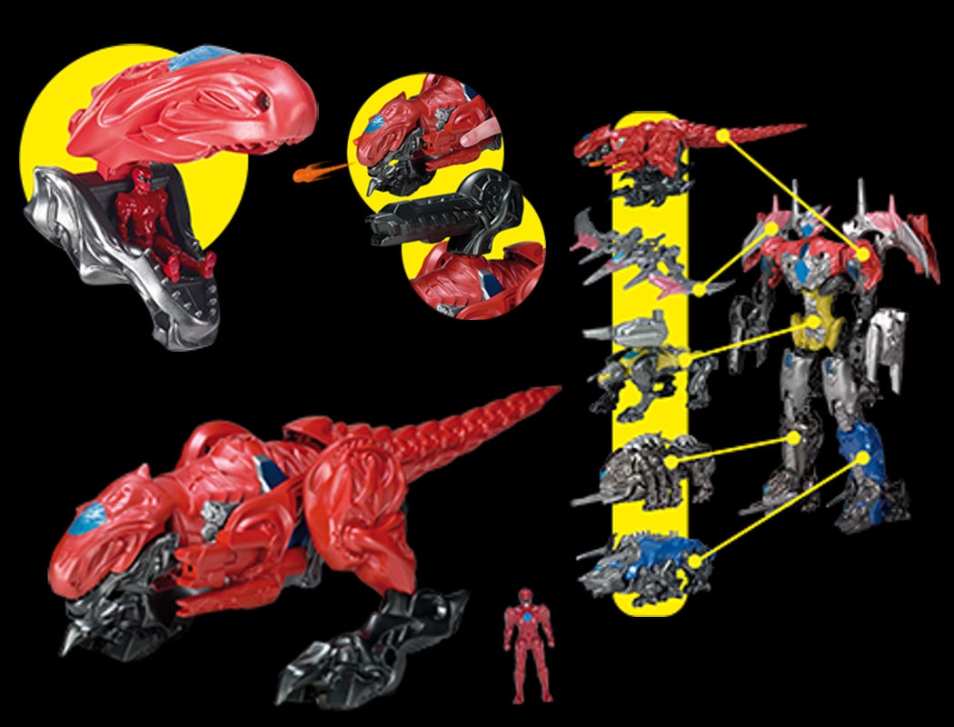 DX Zord disparador de misiles con la figura del Power Rojo integrada