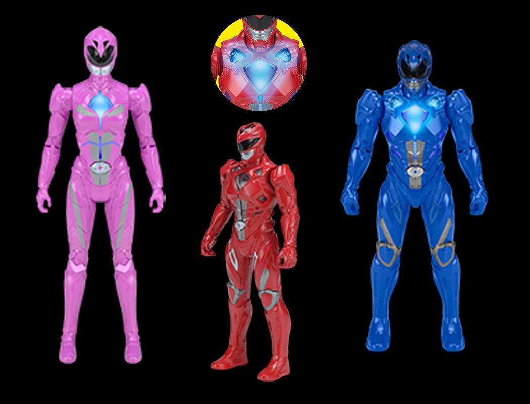 Figuras de los Power Rangers a 18cm con efectos luminosos