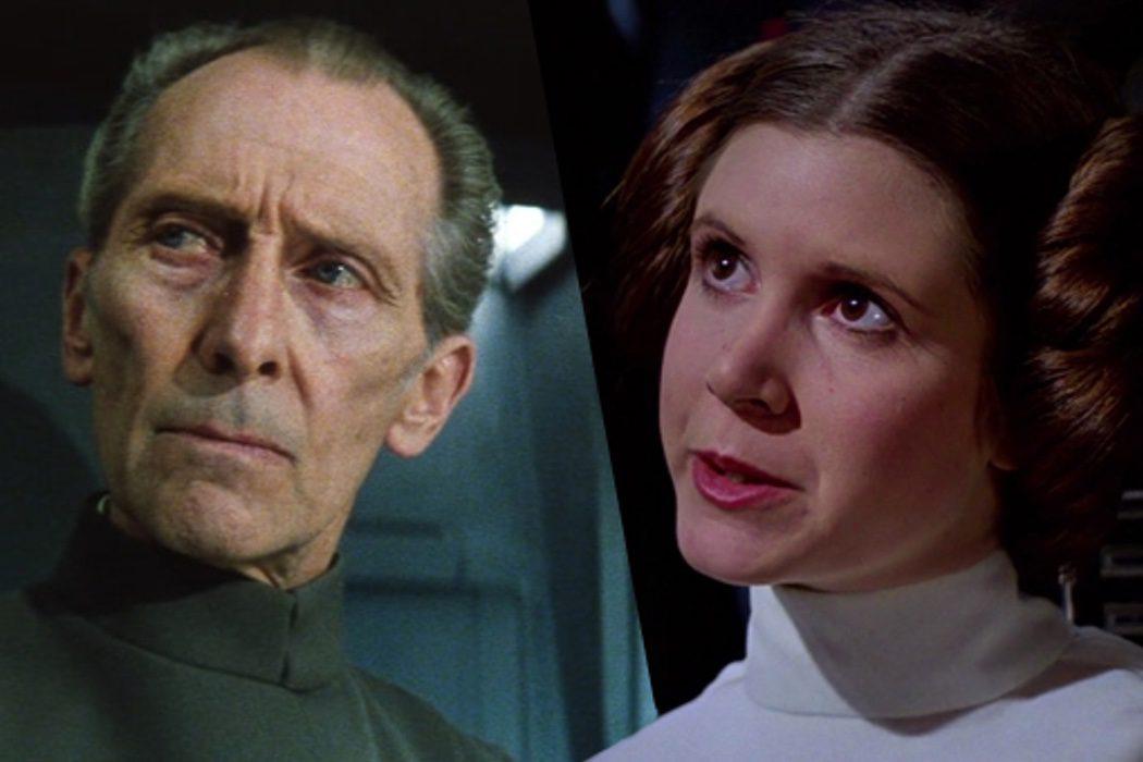 El Gobernador Tarkin y la Princesa Leia