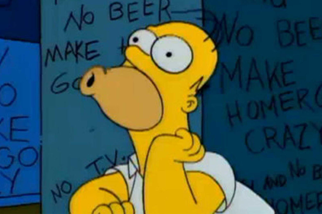"""""""Sin tele y sin cerveza Homer pierde la cabeza"""" (Homer Simpson)"""