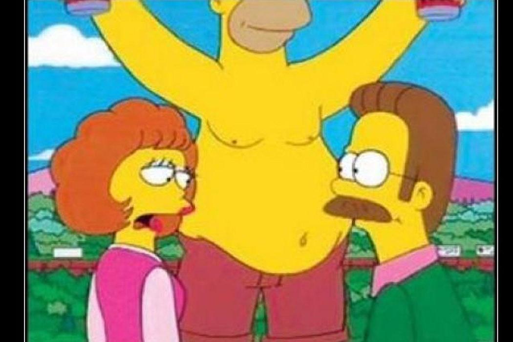 """""""¡Pero no de las gordas!"""" (Ned Flanders)"""