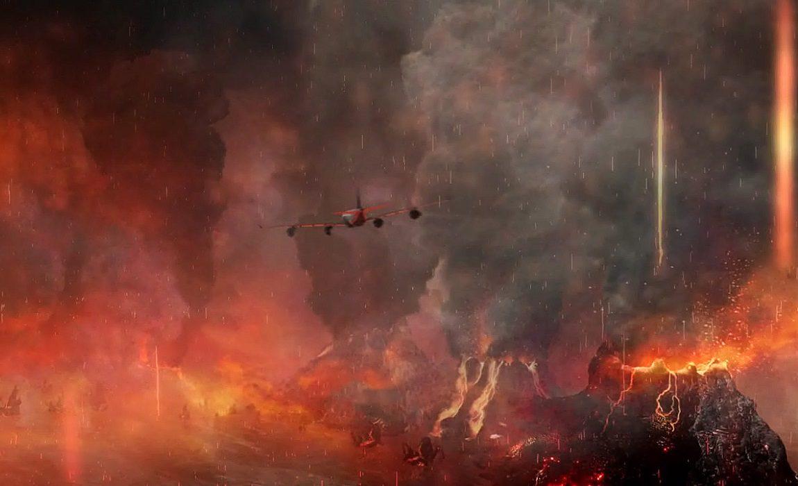 'Airplane vs. Volcano'