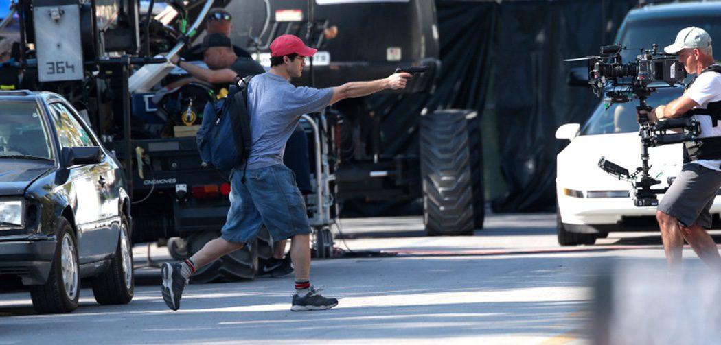 Darren Criss en el rodaje de 'American Crime Story'
