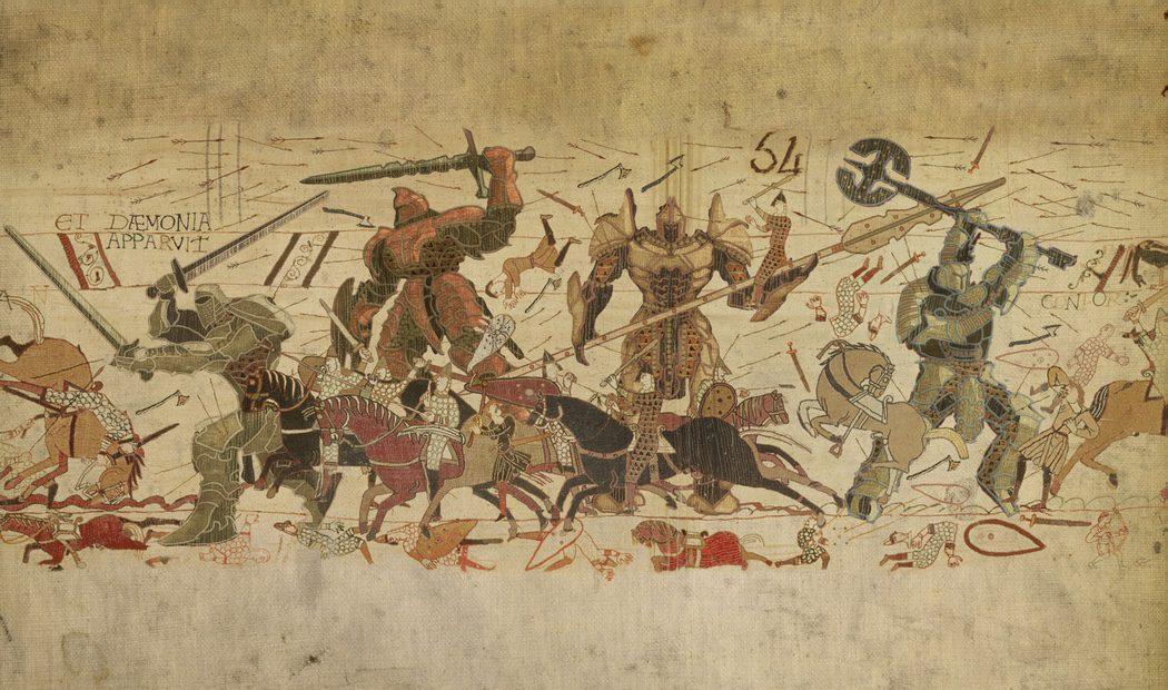 Pintura tradicional japonesa de Transformers luchando contra samuráis