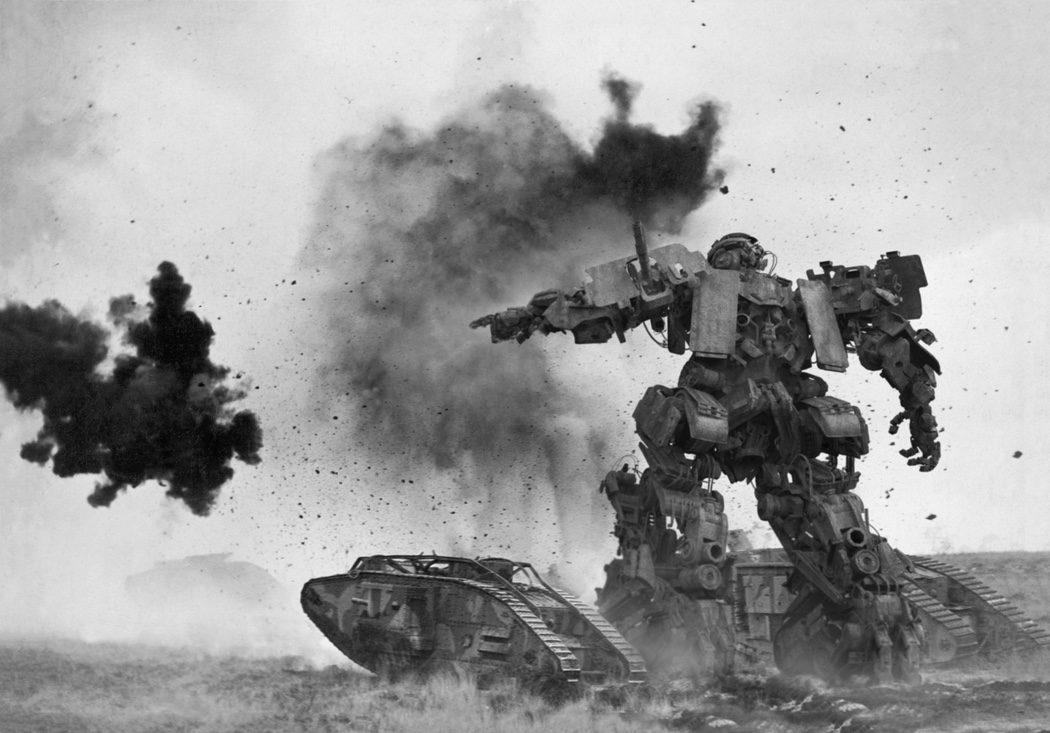 Documento fotográfico de un Transformer combatiendo en la II Guerra Mundial
